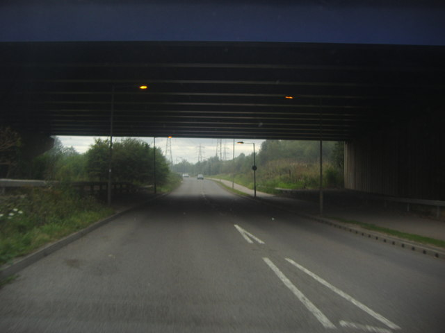 The M25 goes over Fleming Road