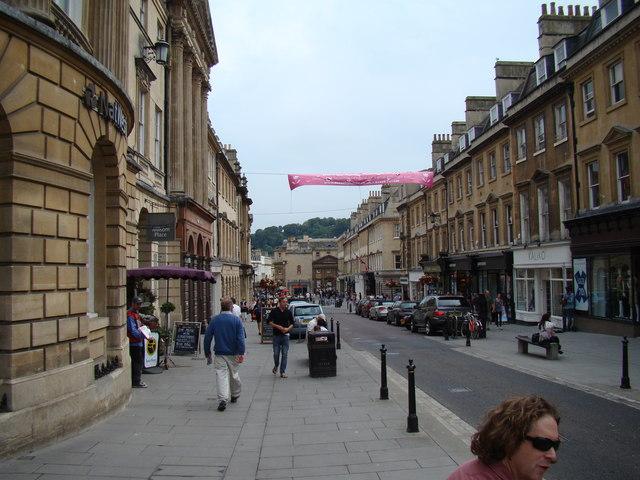 View down Milsom Street