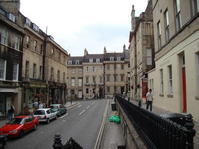 Looking along George Street onto Gay Street