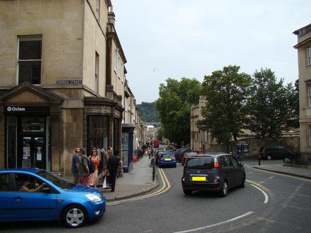 View down Gay Street