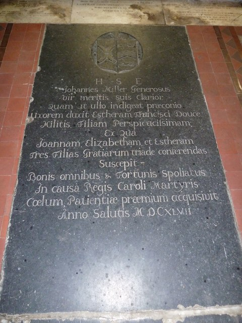 Nether Wallop- St Andrew's: memorial (2)