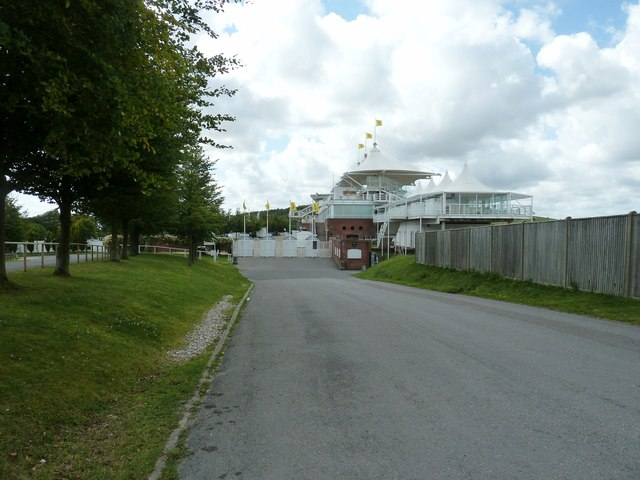 Main grandstand and administration block at Goodwood