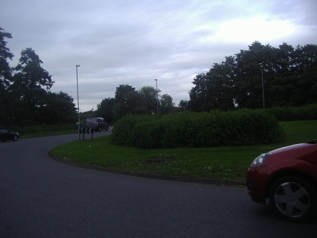 Roundabout on the B175, Passingford Bridge