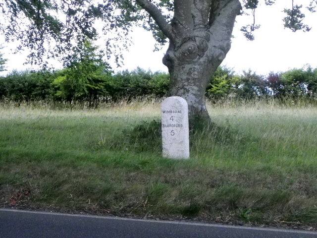 Milestone near Shapwick