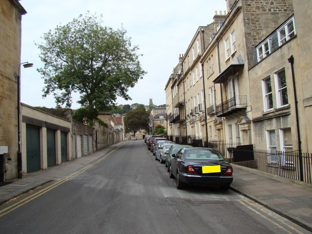 Looking up Upper Church Street from Royal Crescent