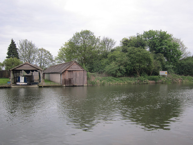 Boat houses by the Cam