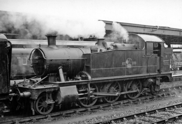 A GW 'Small Prairie 2-6-2T at Plymouth North Road Station