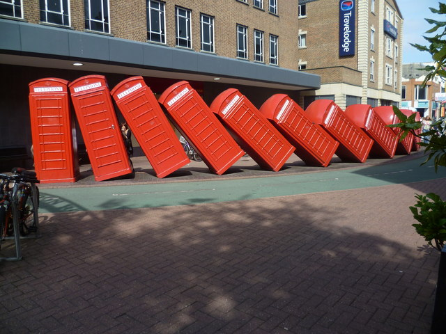 The twelve telephone boxes of Kingston