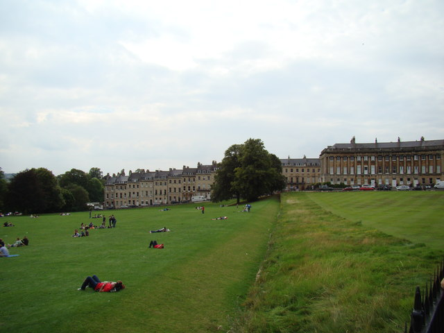 Houses on Marlborough Buildings, viewed from Royal Crescent