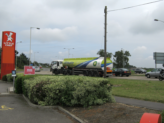 Roundabout on the A31 in St. Leonards