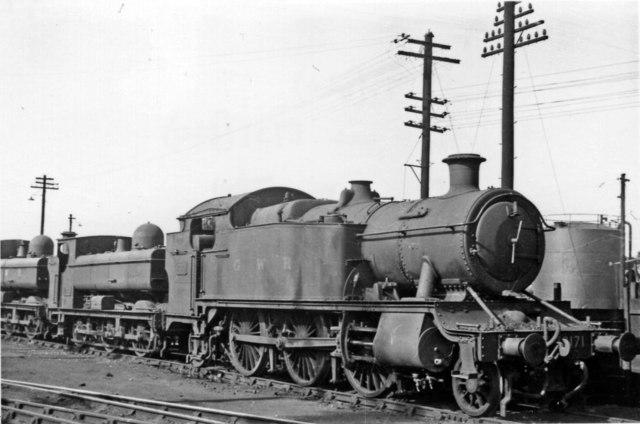 A '3150' 2-6-2T at Gloucester GW Locomotive Depot