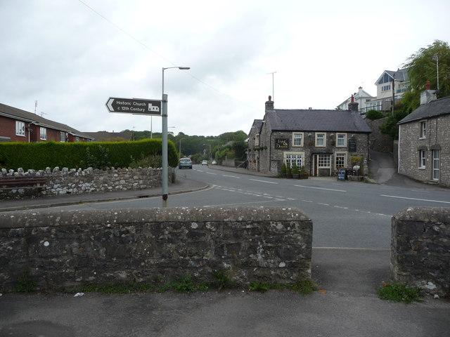 The Fox & Hounds pub, St Brides Major