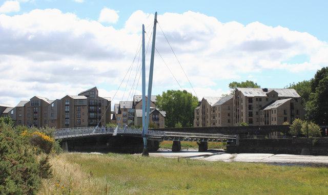 The Millennium Bridge across the River Lune at Lancaster