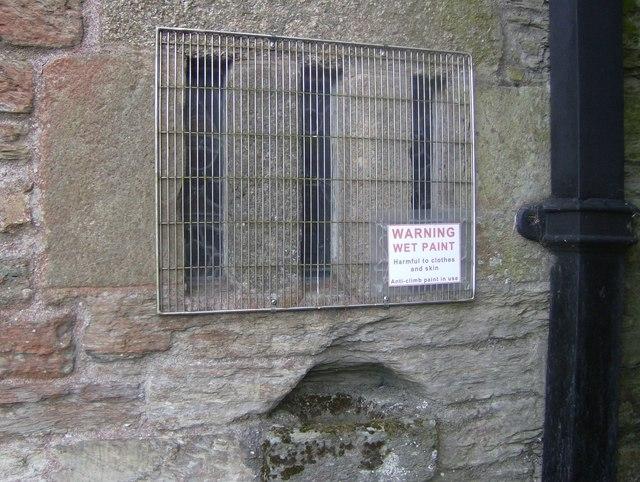 External view of Leper Window at St Martins Church