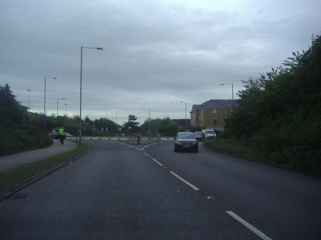 Roundabout on Fleming Way, Waltham Abbey