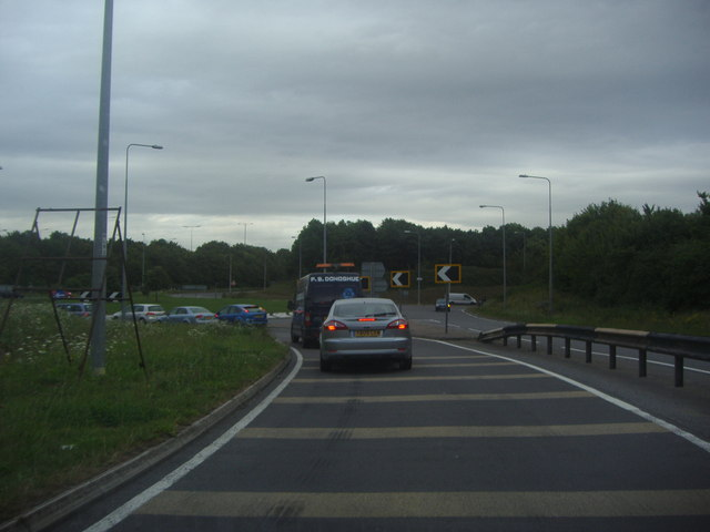 Roundabout at the end of Dowding Way