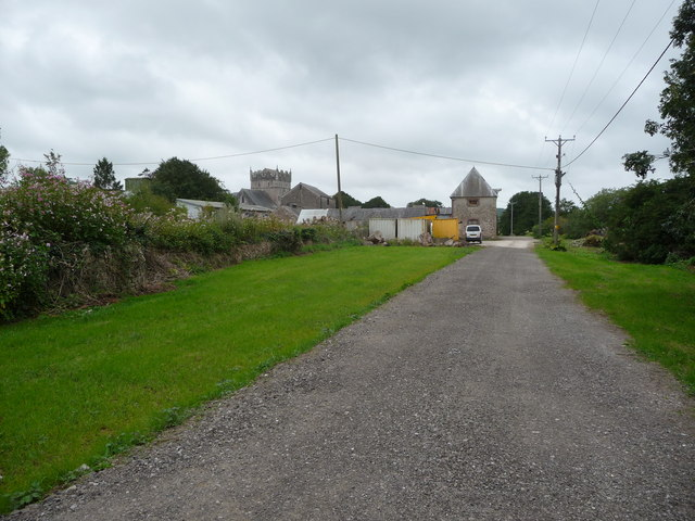Approaching Ewenny Priory
