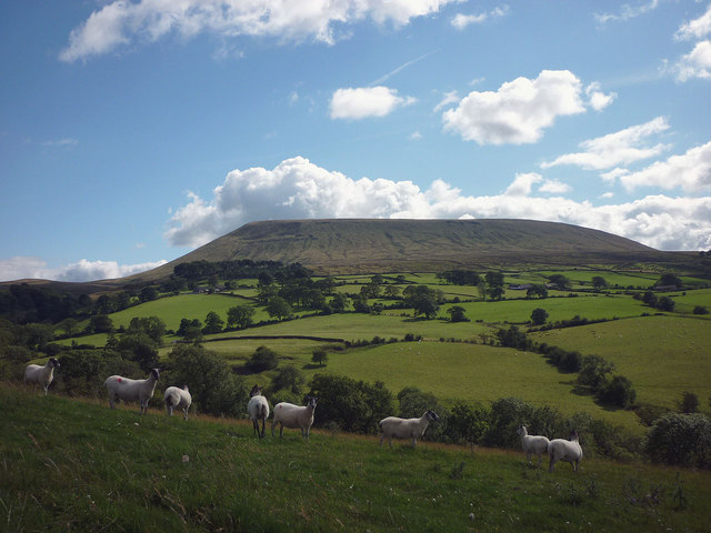 Pendle Hill across Twiston Beck
