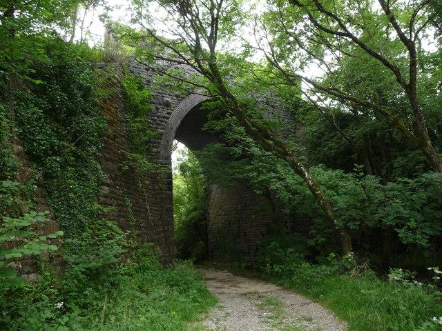Lofty railway bridge in Cwm Alun
