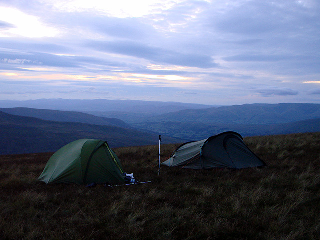 Wild camping on Whernside