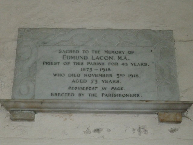 Nether Wallop- St Andrew's: memorial (4)