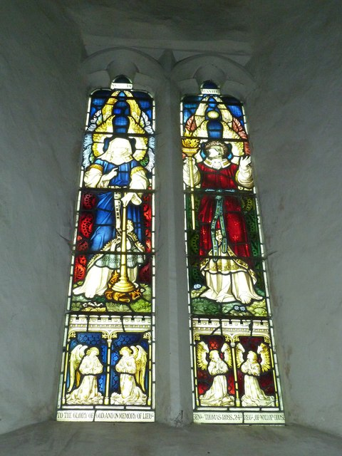 Nether Wallop- St Andrew's: stained glass window (5)