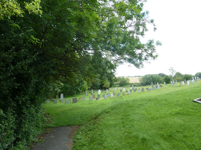 Nether Wallop- St Andrew's: the churchyard in August (2)