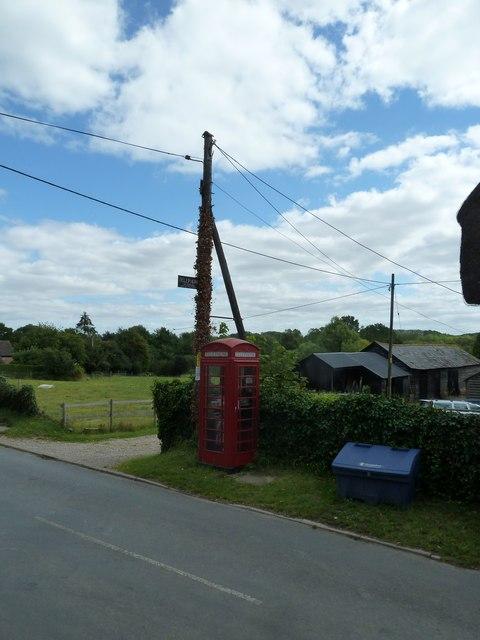 Phone box opposite the parish church