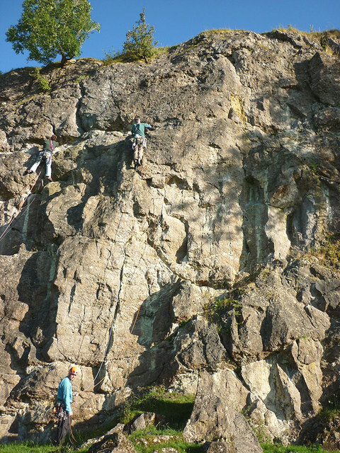 Climbers on Witches' Quarry