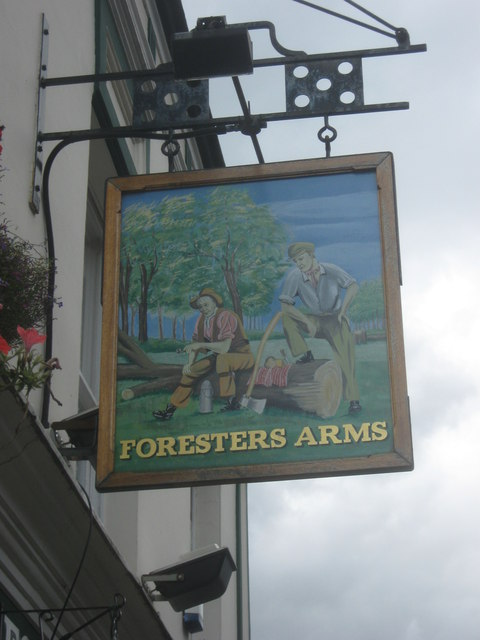 Foresters Arms, Pub Sign, East Wickham
