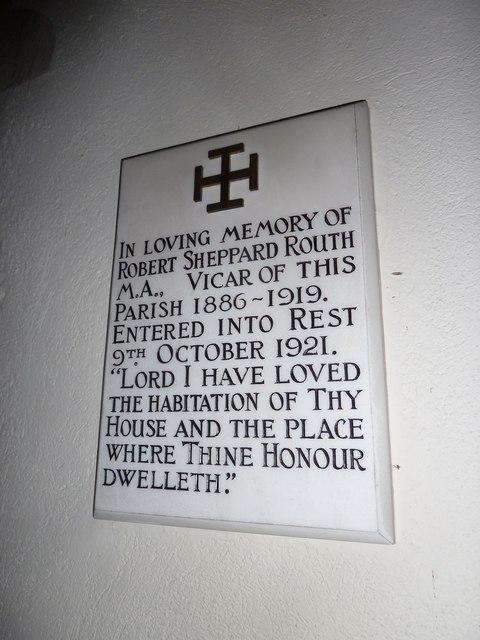 St Mary, Longstock: memorial (a)