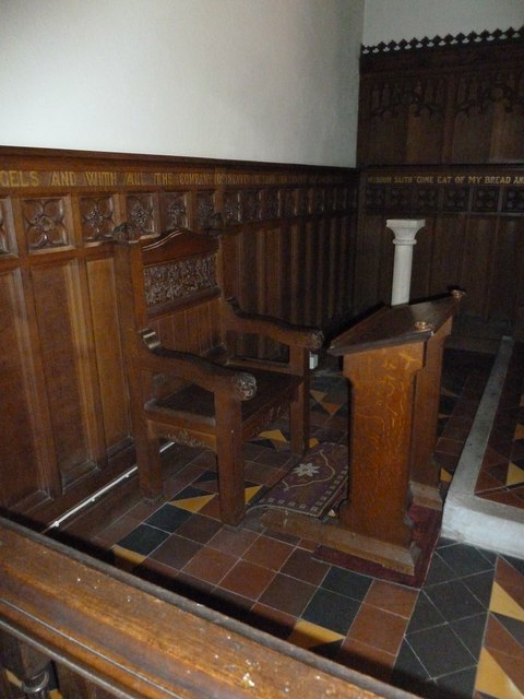St Mary, Longstock: Bishop's chair