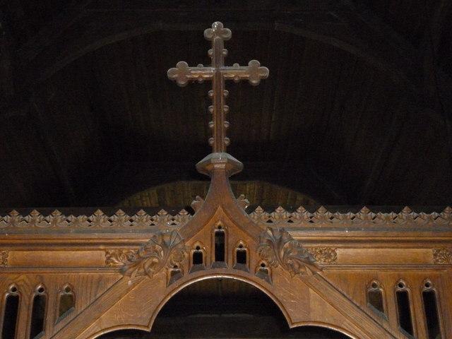 St Mary, Longstock: rood screen