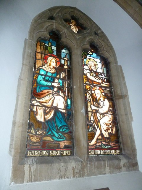 St Mary, Longstock: stained glass window (4)