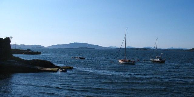 Yachts at moorings, Crinan
