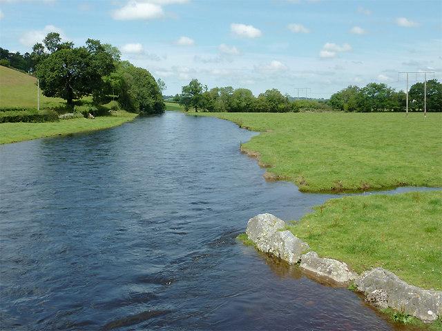 The Afon Teifi from Pont Gogoyan, Ceredigion