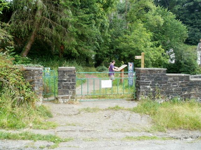 Southern entrance to Sgwd Gwladys walk, Pontneddfechan