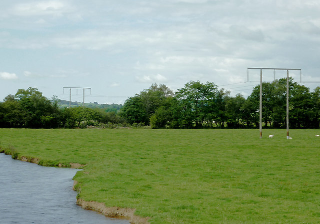 Pasture by the Afon Teifi by Pont Gogoyan, Ceredigion