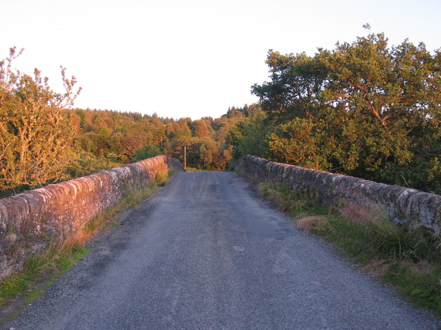 The old road over the bridge