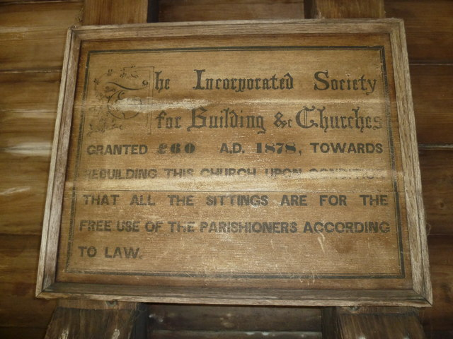 St Mary, Longstock: grant commemoration in the porch