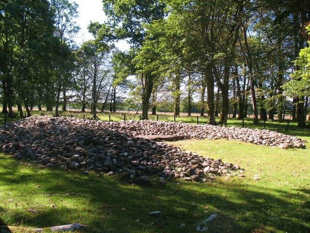Remains of cairn at Ri Cruin
