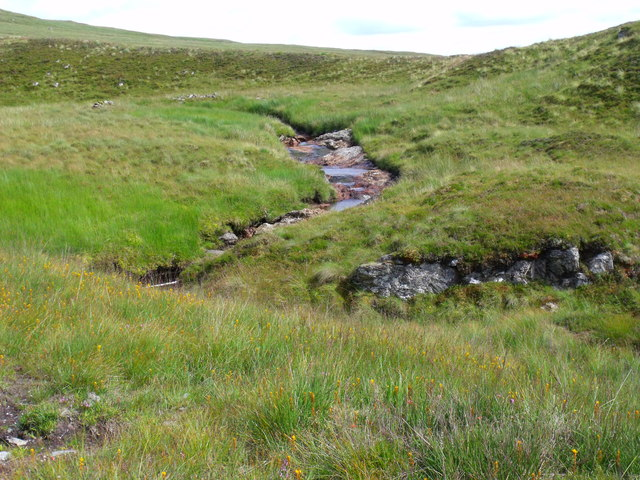 Bends in the tributary to Strone Burn