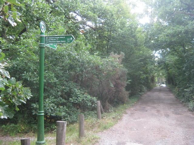 Green Chain Walk near Bostall House