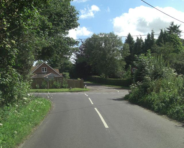 Roe Downs Road crosrsoads