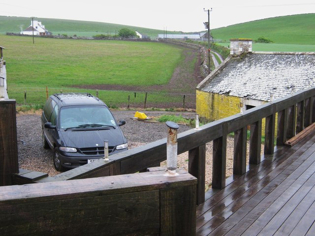 The parking area at Dally Cottage