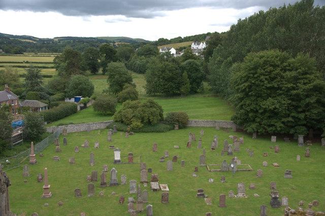 Graveyard, Melrose Abbey