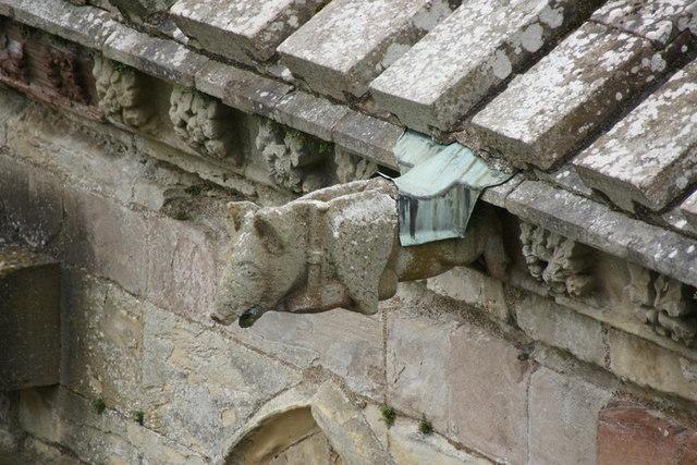 Gargoyle on Melrose Abbey