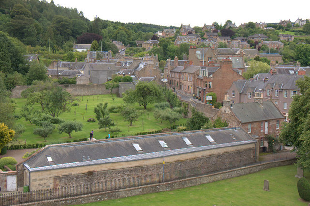 Melrose from the tower of the abbey