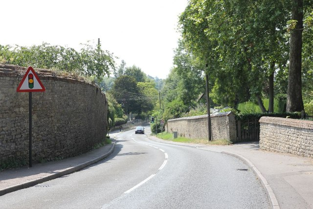 Church hill towards the school