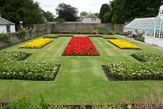 Abbey gardens, Melrose